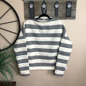ANTHROPOLOGIE Eri + Ali Striped Sabori Sweatshirt